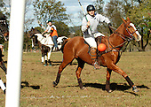 David Brooks of North Carolina and riding for the Grey Team, scores against the Warbucks during a polocrosse match held at the Bucks County Horse Park in Revere, Pa., on Sunday October 23, 2005. (JANE THERESE/Special to The Morning Call).