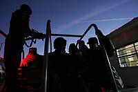 Elementos de la Policia Estatal Mantiene fuertes custodias del Cereso 1 como medida preventiva pera evitar las fugas como las del pasado domingo