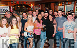 Leaving Party: Jamie Barry, Listowel with his friends & family pictured at Mike the Pies Bar, Listowel at a farewell party prior to his departure to Boston.