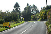 BNPS.co.uk (01202 558833)<br /> Pic: ZacharyCulpin/BNPS<br /> <br /> The road closure is set to start from the cone on the left to the cone towards the centre of the picture.<br /> <br /> Motorists have hit out at a 'crazy' local council after it announced a 41 mile diversion around a 65ft stretch of roadworks.<br /> <br /> A small section of the A352 in Godmanstone, Dorset will be closed between Monday and Friday next week for work on a sewage system.<br /> <br /> Just over 65ft of the carriageway will be closed off by workmen but Dorset County Council have given an official diversion measuring an incredible 41 miles.