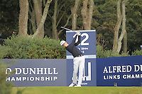 Gary Hurley (IRL) on the 12th tee during Round 3 of the 2015 Alfred Dunhill Links Championship at Kingsbarns in Scotland on 3/10/15.<br /> Picture: Thos Caffrey | Golffile