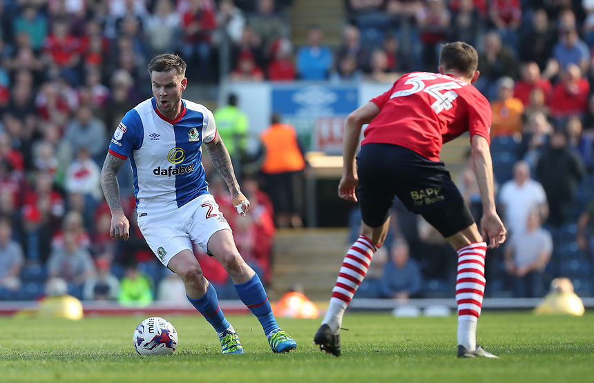 Blackburn Rovers' Danny Guthrie in action during todays match <br /> <br /> Photographer Rachel Holborn/CameraSport<br /> <br /> The EFL Sky Bet Championship - Blackburn Rovers v Barnsley - Saturday 8th April 2017 - Ewood Park - Blackburn<br /> <br /> World Copyright &copy; 2017 CameraSport. All rights reserved. 43 Linden Ave. Countesthorpe. Leicester. England. LE8 5PG - Tel: +44 (0) 116 277 4147 - admin@camerasport.com - www.camerasport.com