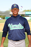 April 17 2010: Kevin Ramos of the Cedar Rapids Kernels at Elfstrom Stadium in Geneva, IL. The Kernels are the Low A affiliate of the Los Angeles Angels. Photo by: Chris Proctor/Four Seam Images