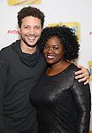 Justin Guarini and Moya Angela attend the photo Call for 'InTransit' at The New 42nd Street Studios on October 27, 2016 in New York City.