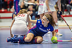 Mannheim, Germany, January 03: During the 1. Bundesliga women indoor hockey match between TSV Mannheim and Mannheimer HC on January 3, 2020 at Primus-Valor Arena in Mannheim, Germany. Final score 4-4. (Photo by Dirk Markgraf / www.265-images.com) *** Nadine Kanler #4 of Mannheimer HC