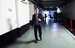 Stockholm 2014-09-27 Ishockey Hockeyallsvenskan AIK - Mora IK :  <br /> AIK:s tr&auml;nare Peter Gradin p&aring; v&auml;g ut fr&aring;n omkl&auml;dningsrummet inf&ouml;r tredje perioden i matchen mellan AIK och Mora<br /> (Foto: Kenta J&ouml;nsson) Nyckelord:  AIK Gnaget Hockeyallsvenskan Allsvenskan Hovet Johanneshovs Isstadion Mora MIK portr&auml;tt portrait tr&auml;nare manager coach inomhus interi&ouml;r interior