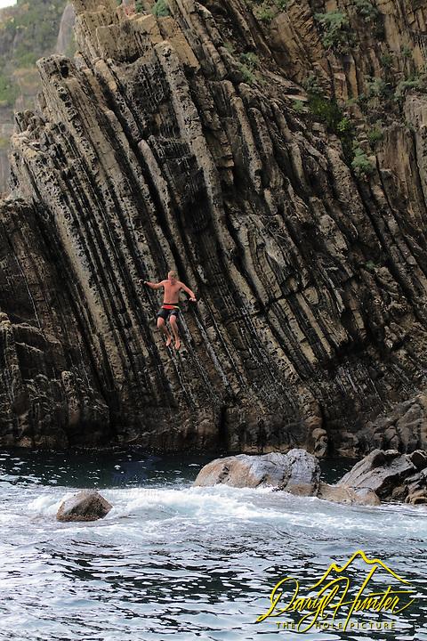 Cliff Jumper, Riomaggiore, Cinque Terra, Italy