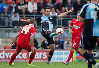 Matt Bloomfield of Wycombe Wanderers wins the ball during the Sky Bet League 2 match between Leyton Orient and Wycombe Wanderers at the Matchroom Stadium, London, England on 19 September 2015. Photo by Andy Rowland.