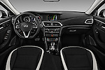 Stock photo of straight dashboard view of 2018 Infiniti QX30 Sport 5 Door SUV Dashboard