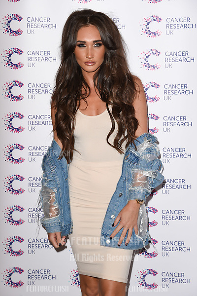 Megan McKenna arriving at James Ingham&rsquo;s Jog On to Cancer, in aid of Cancer Research UK at The Roof Gardens in Kensington, London.  <br /> 12 April  2017<br /> Picture: Steve Vas/Featureflash/SilverHub 0208 004 5359 sales@silverhubmedia.com