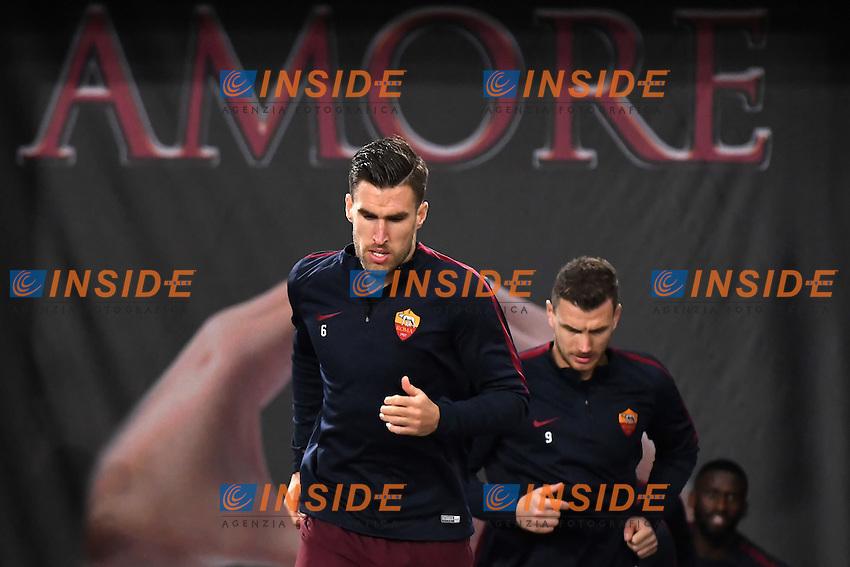 Kevin Strootman, Edin Dzeko Roma <br /> Roma 12-12-2016 Stadio Olimpico Football <br /> Campionato Serie A 2016/2017 <br /> AS Roma - Milan <br /> Foto Andrea Staccioli / Insidefoto