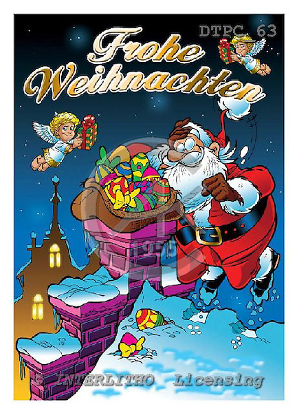 Eberle, Comics, CHRISTMAS SANTA, SNOWMAN, paintings, DTPC63,#X# Weihnachten, Navidad, illustrations, pinturas