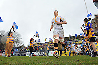 Bradley Davies and the rest of the Wasps team run out onto the field. Aviva Premiership match, between Bath Rugby and Wasps on February 20, 2016 at the Recreation Ground in Bath, England. Photo by: Patrick Khachfe / Onside Images