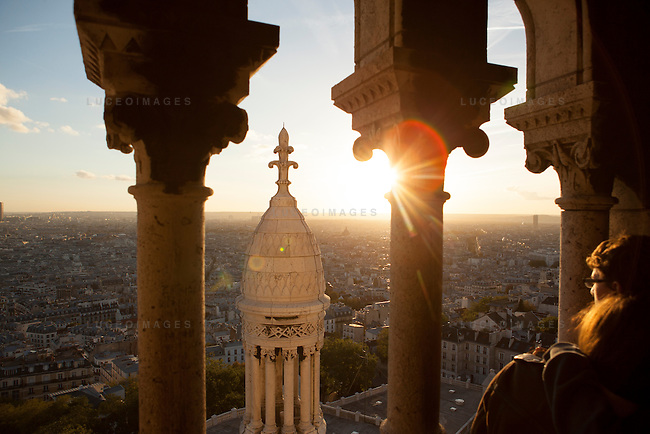 View from atop Montmarte in Paris.<br /> <br /> Paris street scenes.<br /> <br /> Kevin German / Luceo