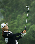 Min Sun Kim of South Korea tees off at the 5th hole during Round 4 of the World Ladies Championship 2016 on 13 March 2016 at Mission Hills Olazabal Golf Course in Dongguan, China. Photo by Victor Fraile / Power Sport Images