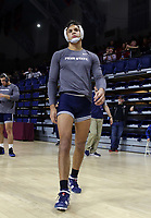 PHILADELPHIA, PA - NOVEMBER 18: Shakur Rasheed of the Penn State Nittany Lions warms-up before a match at the Keystone Classic on November 18, 2018 at The Palestra on the campus of the University of Pennsylvania in Philadelphia, Pennsylvania. (Photo by Hunter Martin/Getty Images) *** Local Caption *** Shakur Rasheed