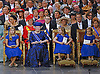 "30.04.2013; Amsterdam: KING WILLEM-ALEXANDER AND QUEEN MAXIMA.Front row from left: Crown Princess Catharina-Amalia, Princess Beatrix, Princess Alexia and Princess Ariane await the start of the inauguration of King Willem-Alexander at Nieuwe Kerk,Amsterdam, The Netherlands..Mandatory Credit Photos: ©Kooren/NEWSPIX INTERNATIONAL..**ALL FEES PAYABLE TO: ""NEWSPIX INTERNATIONAL""**..PHOTO CREDIT MANDATORY!!: NEWSPIX INTERNATIONAL(Failure to credit will incur a surcharge of 100% of reproduction fees)..IMMEDIATE CONFIRMATION OF USAGE REQUIRED:.Newspix International, 31 Chinnery Hill, Bishop's Stortford, ENGLAND CM23 3PS.Tel:+441279 324672  ; Fax: +441279656877.Mobile:  0777568 1153.e-mail: info@newspixinternational.co.uk"