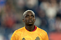 FOXBOROUGH, MA - AUGUST 31: Chris Mavinga #23 of Toronto FC during a game between Toronto FC and New England Revolution at Gillette Stadium on August 31, 2019 in Foxborough, Massachusetts.
