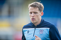1st February 2020; Cappielow Park, Greenock, Inverclyde, Scotland; Scottish Championship Football, Greenock Morton versus Dundee Football Club; New Dundee signing Christophe Berra during the warm up before the match