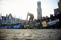 Ronde van Vlaanderen 2013..Gabriel Rash (NOR) underway to sign-in