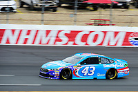 July 15, 2017 - Loudon, New Hampshire, U.S. - Aric Almirola, Monster Energy NASCAR Cup Series driver of the Smithfield Ford (43), runs in the NASCAR Monster Energy Overton's 301 final practice round held at the New Hampshire Motor Speedway in Loudon, New Hampshire. Larson placed first in the qualifier. Eric Canha/CSM