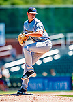 18 July 2018: Trenton Thunder pitcher Garrett Whitlock on the mound against the New Hampshire Fisher Cats at Northeast Delta Dental Stadium in Manchester, NH. The Thunder defeated the Fisher Cats 3-2 concluding a previous game started April 29. Mandatory Credit: Ed Wolfstein Photo *** RAW (NEF) Image File Available ***