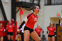 Wesleyan Volleyball vs. Tufts 9/30/2016