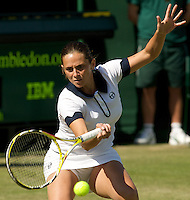 Roberta Vinci (ITA) against  Anastasia Pavlyuchenkova (RUS) (31) in the second round of the ladies singles. Vinci beat Pavlyuchenkova 6-4 7-6..Tennis - Wimbledon - Day 3 - Wed  24th June 2009 - All England Lawn Tennis Club  - Wimbledon - London - United Kingdom..Frey Images, Barry House, 20-22 Worple Road, London, SW19 4DH.Tel - +44 20 8947 0100.Cell - +44 7843 383 012