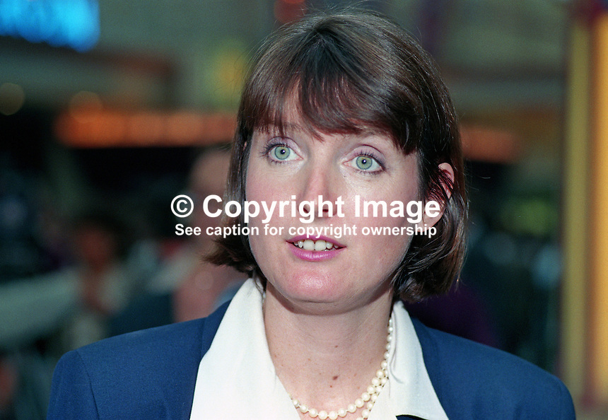 Harriet Harman, MP, Labour Party, Peckham, UK, 19901006005.<br />