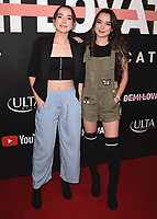 """LOS ANGELES- OCTOBER 11:  Vanessa Merrell and Veronica Merrell at the premiere of """"Demi Lovato: Simply Complicated"""" at The Fonda Theatre on October 11, 2017 in Los Angeles, California. (Photo by Scott Kirkland/PictureGroup)"""