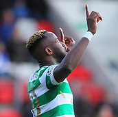 4th November 2017, McDiarmid Park, Perth, Scotland; Scottish Premiership football, St Johnstone versus Celtic; Moussa Dembele celebrates his goal after making it 2-0