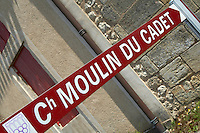 street sign ch moulin du cadet saint emilion bordeaux france