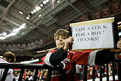 March 09, 2009. Raleigh, NC.. The Carolina Hurricanes beat the New York Rangers 3-0 at the RBC Center in Raleigh.. Matthew Falcon, age 8.