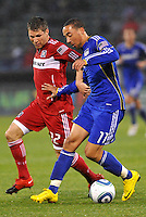 Logan Pause, Ryan Smith #11...Kansas City Wizards played to a 2-2 tie with Chicago Fire at Community America Ballpark, Kansas City, Kansas.