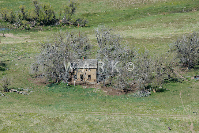 Abandoned farmhouse, east of Black Forest, Colorado