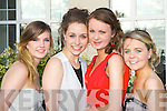 Ellie Gudgoen, Jasmin Bachofner, Emma O'Shea and Amy O'Regan at the Pobail Scoil Inbhear Sceine, Kenmare debs ball in the Dromhall Hotel Killarney on Wednesday night..
