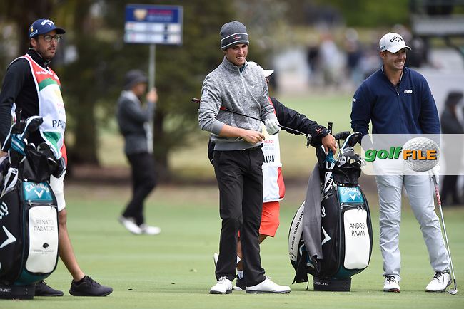 Renato Paratore (ITA) and Andrea Pavan (ITA) during the 3rd round of the World Cup of Golf, The Metropolitan Golf Club, The Metropolitan Golf Club, Victoria, Australia. 24/11/2018<br /> Picture: Golffile | Anthony Powter<br /> <br /> <br /> All photo usage must carry mandatory copyright credit (© Golffile | Anthony Powter)