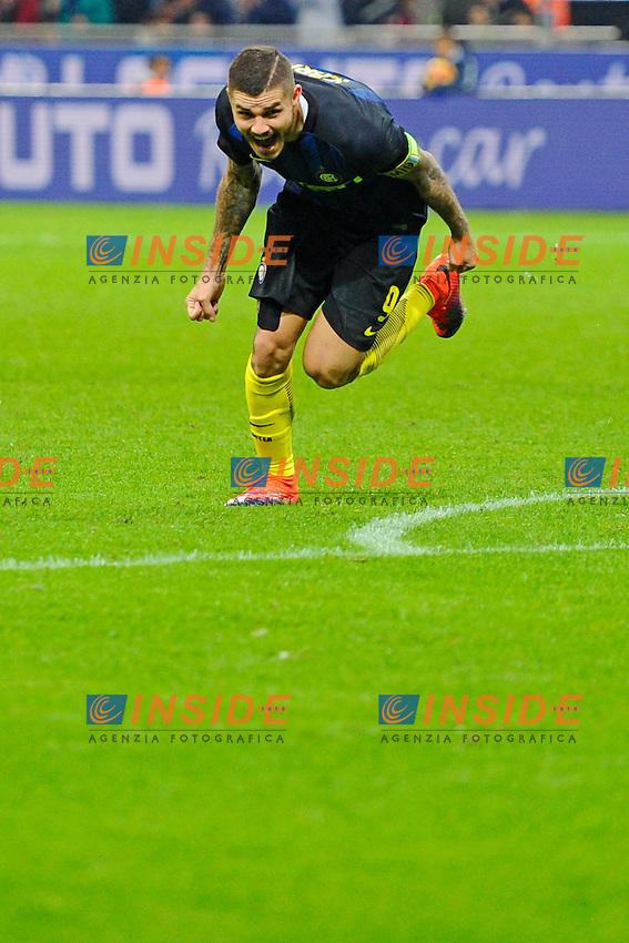 Esultanza gol di Mauro Icardi 2-1. Celebration goal<br /> Milano 26-10-2016 Stadio Giuseppe Meazza - Football Calcio Serie A Inter - Torino. Foto Giuseppe Celeste / Insidefoto
