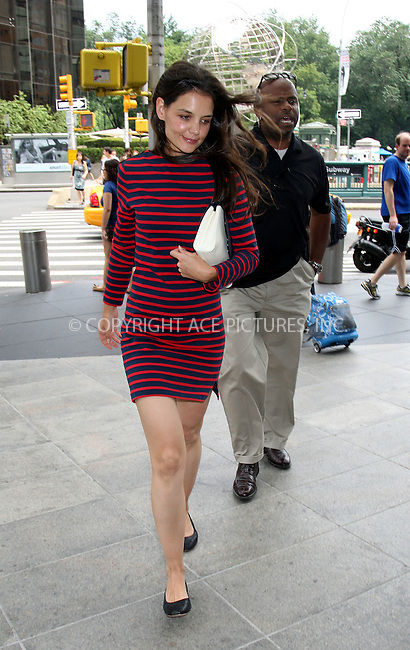 WWW.ACEPIXS.COM . . . . .  ....July 14 2012, New York City....Actress Katie Holmes paid a visit to the Time Warner building at Columbus Circle on July 14 2012 in New York City....Please byline: PHILIP VAUGHAN - ACE PICTURES.... *** ***..Ace Pictures, Inc:  ..Philip Vaughan (212) 243-8787 or (646) 769 0430..e-mail: info@acepixs.com..web: http://www.acepixs.com