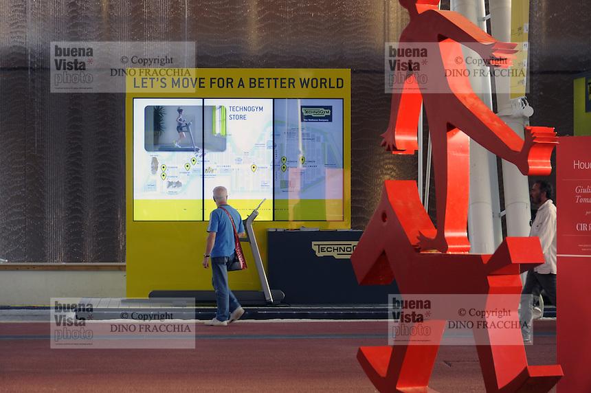 - Milano, Esposizione Mondiale Expo 2015, stand di TechnoGym<br /> <br /> - Milan, the World Exhibition Expo 2015  stand of TechnoGym