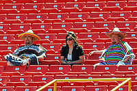 Fans in on Cindo De Mayo action May 5th, 2010; Oklahoma CIty Redhawks vs Omaha Royals at historic Rosenblatt Stadium in Omaha Nebraska.  Photo by: William Purnell/Four Seam Images