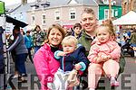 Amy Ní Chiardubháin, Aifric Locke, Alan Locke and Danu Locke, enjoying the atmosphere at the Dingle Food Festival on Saturday last.
