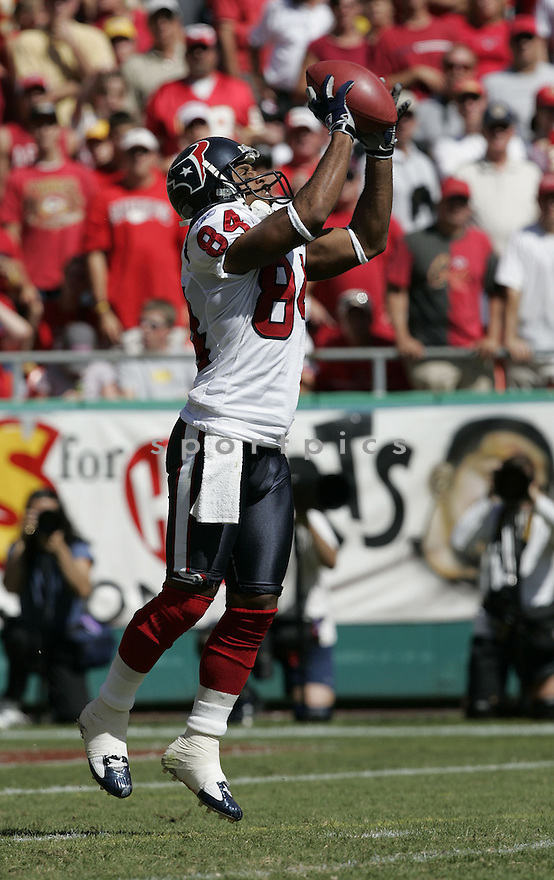 JJ Moses during the Houston Texans. v. Kansas City Chiefs game September 26, 2004...Dilip Vishwanat / SportPics