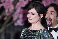 "Emily Mortimer and Lin-Manuel Miranda<br /> arriving for the ""Mary Poppins Returns"" premiere at the Royal Albert Hall, London<br /> <br /> ©Ash Knotek  D3467  12/12/2018"