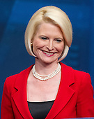 Callista Gingrich, President, Gingrich Productions, introduces her husband, former Speaker of the United States House Newt Gingrich (Republican of Georgia), a candidate for the 2012 Republican Party nomination for President of the United States, at the 2012 CPAC Conference at the Marriott Wardman Park Hotel in Washington, D.C. on Friday, February 10, 2012..Credit: Ron Sachs / CNP