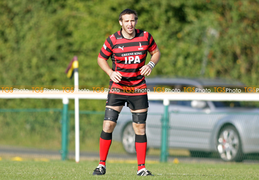 Jonathan West of Blackheath rugby - Old Albanian RFC vs Blackheath RFC- SSE National League One Rugby at Woollams Playing Fields, St Albans - 22/09/12 - MANDATORY CREDIT: Helen Watson/TGSPHOTO - Self billing applies where appropriate - 0845 094 6026 - contact@tgsphoto.co.uk - NO UNPAID USE.