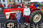 Eileen McCarthy, Sarah Sheehan and Fionnan McCarthy enjoying the Ardfert Tractor Run fundraiser for the staff of UHK on Sunday.