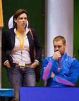 15-12-12, Rotterdam, Tennis Masters 2012, Maikel Scheffers with his coach Mirian Oremans