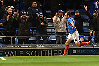 Brett Pitman of Portsmouth scores and celebrates to make the score 2-1 during Portsmouth vs Altrincham, Emirates FA Cup Football at Fratton Park on 30th November 2019