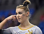 The SEC National Gymnastic Championship was held on Saturday March 24 at Chaifetz Arena on the Saint Louis University campus. Mizzou&rsquo;s Morgan Porter is shown before competing in the floor competition.<br />